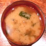 Kitchen 古時計 - 豚の生姜焼き<限定7食> 500円 の味噌汁