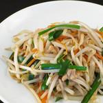 チャイナ ガーデン - 豚肉とモヤシの炒め