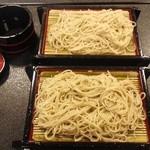 てつや - 「盛そば大盛」福井では珍しい細麺です。