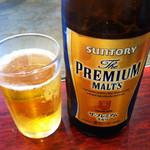 楓の木 - ビールはサントリー