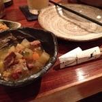36750677 - 突き出しのイノシシの煮物