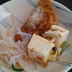 桃花 - 春雨、豆腐料理と揚げ物