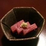 田中屋 - 【2012.02.27】お通し:まぐろの刺身