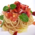 イル・レオーネ - 料理写真:苺とトマトのパスタ~ミント添え~