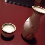 田中屋 - 2015.04.08 熱燗(沢の鶴)