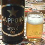 さくら水産 - 瓶(大びん)ビールが480円というのがとても嬉しい。