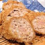 Katsukichi - 豚でごねかつ定食 1000円 の銘柄豚100%自家挽き新鮮メンチカツ