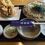 手打ち蕎麦 神楽坂 - かき揚げせいろ、1000円です。