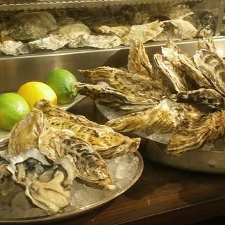 全国各地より取寄せる新鮮な生牡蠣を1年中お楽しみ頂けます。