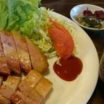 グリンデル - 自家製ベーコンステーキ定食(税込1150円)