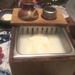 36777541 - 嬉野の湯豆腐はゴマダレでいただきます