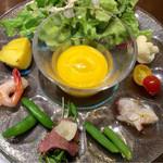 36779235 - ランチ 前菜とスープ