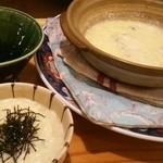 36779384 - 名古屋コーチンつくねコース2000円の雑炊