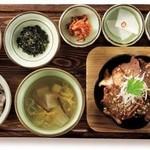 韓食 古家 - カルビクィ定食 2,380円