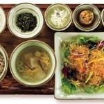 韓食 古家 - ナムル・チャプチェ定食 1,950円