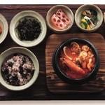 韓食 古家 - 魚介の純豆腐チゲ定食 1,950円