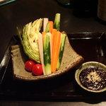 YAKITORI 鳥じん - スティック野菜 特製味噌ディップ