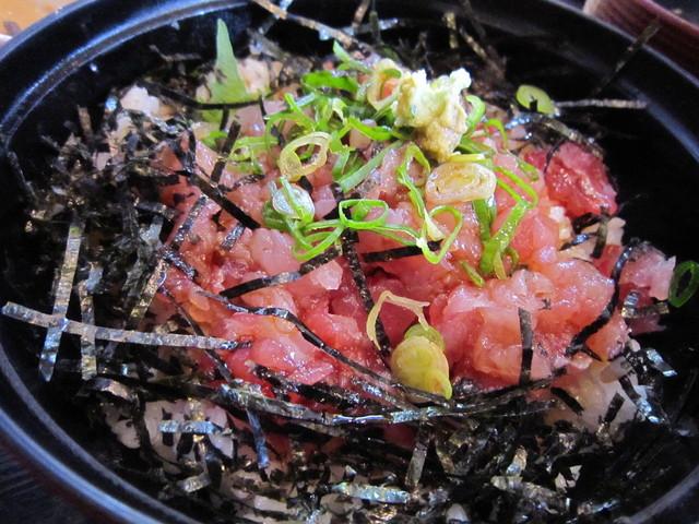 新浜屋 - 日替わりランチ:ネギトロ丼です。