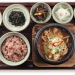 韓食 古家 - 海鮮テンジャンチゲ定食 1,950円