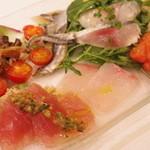 ラ・テンダ・ロッサ - 魚介前菜の盛り合わせ