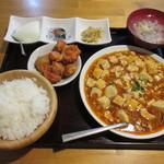 中国飯店佳里福 - 麻婆豆腐定食700円→500円