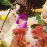 食べるお宿 浜の湯 - 刺身アップ