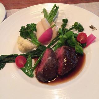 Le Salon de Legumes - 牛ハラミ肉のポアレ