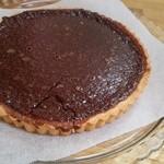 cafe Iris - 焼きたてのチョコのタルト