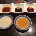 きらく亭 - タレ5種