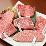 万葉 - 料理写真:当店一押し!!厳選された近江牛からその日のオススメを5種!
