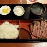 36787568 - サーロインステーキ定食1000円
