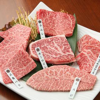 近江牛の部位を食べ比べ『極上近江牛(5種盛)』