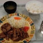 オアシス - しょうが焼き定食(680円)