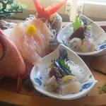 食べるお宿 浜の湯 - 朝食刺身