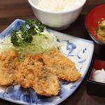 鐘栄丸 - 鯵フライ定食