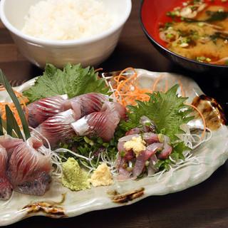 「倉沢鯵定食」1,980円