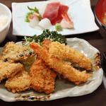 鐘栄丸 - フライ刺身定食