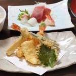 鐘栄丸 - 天ぷら刺身定食