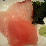海ぼうず - 刺身2点盛り(目鯛と鉢マグロ)