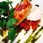 エム ハウス - 三浦野菜のカポナータ 自家製ソーセージとポーチドエッグ添え
