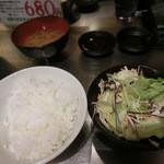 36811625 - ご飯・サラダ・味噌汁(お代わり自由)