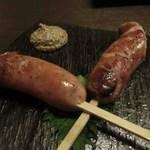 博多前炉ばた一承 - 雷山豚フランクフルト:480円