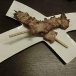 博多前炉ばた一承 - 豚バラ串焼き(塩)2本:280円