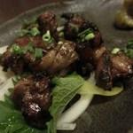 博多前炉ばた一承 - 博多赤鶏モモ炭火網焼:780円