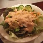 ゴールドラッシュ - 本日のランチ☆  グリーンサラダ  前菜のグリーンサラダでヘルシーにスタート( ´ ▽ ` )ノ