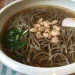 かくれ庵 - 料理写真:鶏南蛮そば(挽きぐるみ)750円