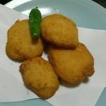 蓼科 - 大和芋とホタテの揚げ物 700円