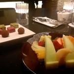 36821063 - チョコ盛り & フルーツ盛り