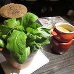 九州炎 - 料理写真:2015.3再訪 お通しのバーニャカウダ