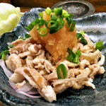 炭火のうっとり - 鶏皮ポン酢